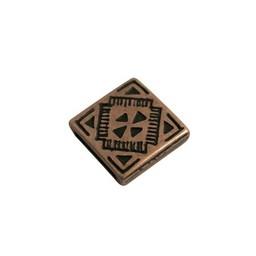 Cuenta DQ Slider bead square  celtic 13mm copper plating.