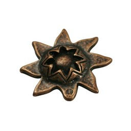 Cuenta DQ bead sun 33mm copper plating.