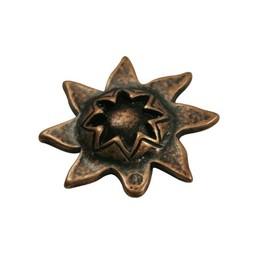 Cuenta DQ kraal zon 33mm brons kleur.
