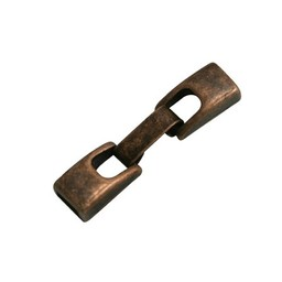 Cuenta DQ metal clasp 2-parts 6mm copper plating.