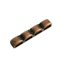 Cuenta DQ distributor piece 4-hole  34x6 copper plating.