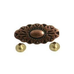Cuenta DQ Rivet ovaal bew. 34x16 brons kleur.