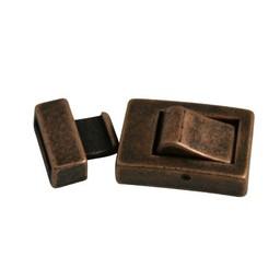 Cuenta DQ Clasp 2-parts klik 13mm copper plating