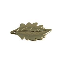 Cuenta DQ sieraden hanger 40mm Blad Goud
