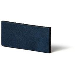 Cuenta DQ Plat leer 10mm Blauw   10mmx85cm o.a. geschikt voor 10mm leerschuivers