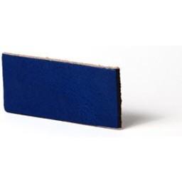 Cuenta DQ Plat leer 10mm Cobalt blauw  10mmx85cm