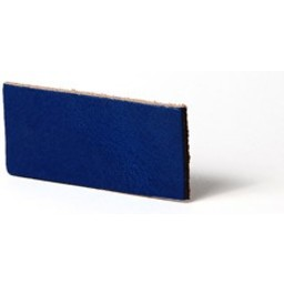 Cuenta DQ Plat leer 30mm Cobalt blauw  30mmx85cm