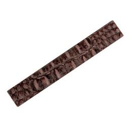 Cuenta DQ 29mmx19cm Krokoprint Lederarmband braunen Streifen