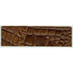 Cuenta DQ Armband aus braunem Leder Kroko-Print 14.5cmx40mm