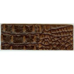Cuenta DQ wristband leather brown crocodile print 14.5cmx50mm