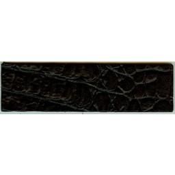 Cuenta DQ wristband leather black crocodile print 14.5cmx50mm