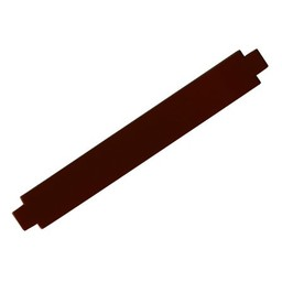 Cuenta DQ leerband bruin glans 24mm M