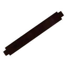 Cuenta DQ bracelet strap leather dark brown shine finish 24mm medium size