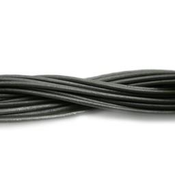 Cuenta DQ leather cord 2mm grey metallic 1 meter