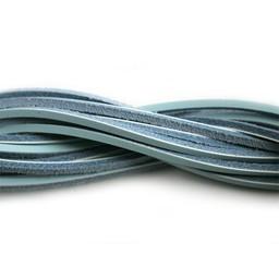 Cuenta DQ Leerveter vierkant 2mmx85cm turquoise licht