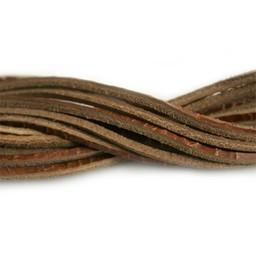 Cuenta DQ lederband  square 2mmx85cm crackle brown