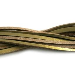 Cuenta DQ lederband square 2mmx85cm gold