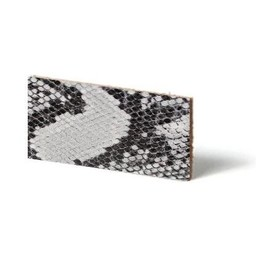 Cuenta DQ Plat leder Grijs reptiel-snake 10mmx85cm