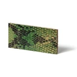 Cuenta DQ Plat leder Lime reptiel-snake 10mmx85cm