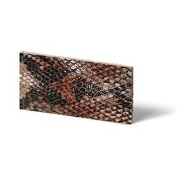 Cuenta DQ Plat leder Mocca reptiel-snake 10mmx85cm