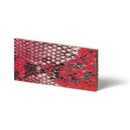 Cuenta DQ Plat leder Rood reptiel-snake 13mmx85cm