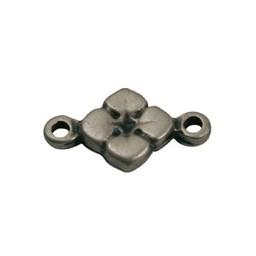 Cuenta DQ Schmuckverbinder Charm 2 Augen Blume 11mm Silber