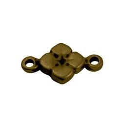 Cuenta DQ bedel 2 ogen bloem 11mm antiek goud