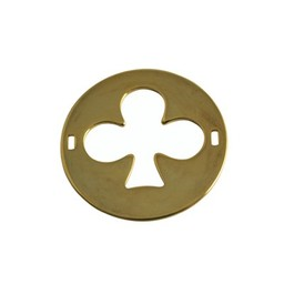 Cuenta DQ charm two eyes finishing touch clover 29mm gold