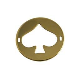 Cuenta DQ bedel 2 ogen plaatje rond schoppen 29mm goudkleurig