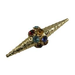 Cuenta DQ Perle filigrain multi kristal Goldfarbe 67x20mm
