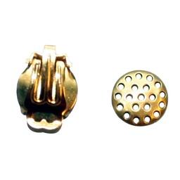 Cuenta DQ Ohrclip mit Sieb 12mm Goldfarbe