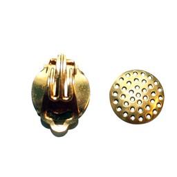 Cuenta DQ Zeef oor clip 15mm goudkleur p. 20 stuks