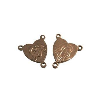 Cuenta DQ Anhanger & Charms Rosenkr?nze rozenkrans 12mm antikes Kupfer Farbe