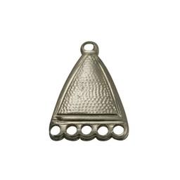 Cuenta DQ verdeler eloxal sieraden hanger 5 ogen oud goudkleurig