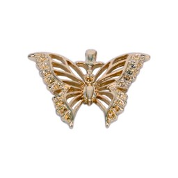Cuenta DQ butterfly pendant 39x32mm gold color