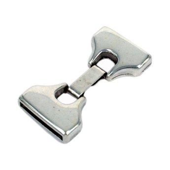 Cuenta DQ Sluiting 2-delig met haakje 19mm zilverkleur