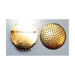 Cuenta DQ Zeef broche 5 ringetjes 35mm goudkleur