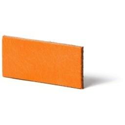 Cuenta DQ Plat leer 12mm Oranje   12mmx85cm o.a. geschikt voor 12mm leerschuivers