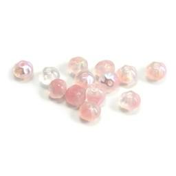 Cuenta DQ Czech glass bead pastelpink ton-sur-ton