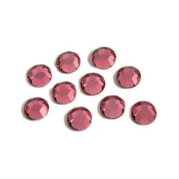 Preciosa crystals MC Flatback Rhinestone ss30 (6.4-6.6mm) rose