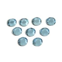 Preciosa crystals MC Flatback strass steen ss30 (6.4-6.6mm) aqua bohemica