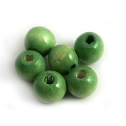 Cuenta DQ wood 12mm green sphere
