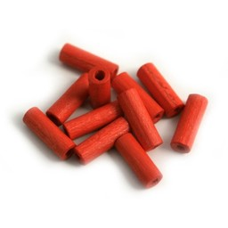 Cuenta DQ 4x12mm red wooden bead nozzle