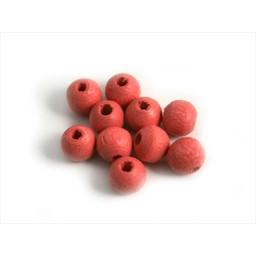 Cuenta DQ 6mm Holzperle rund rosa