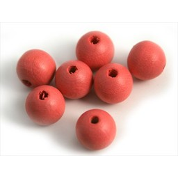 Cuenta DQ 10mm wooden bead rose