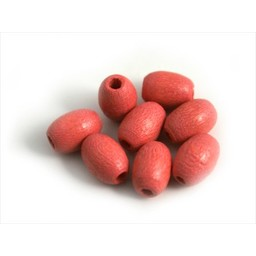 Cuenta DQ Wooden bead 5x7mm oval pink