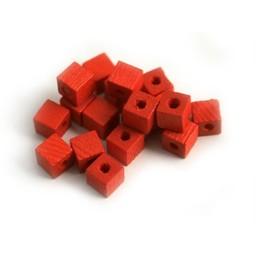 Cuenta DQ 4x4mm quadratischen roten Holzperle