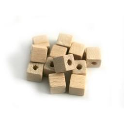 Cuenta DQ Natürliche Holzperle 5x5mm Quadrat-blank
