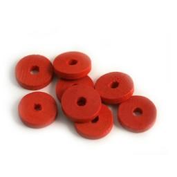 Cuenta DQ 10x2mm houten kraal schijfje rood