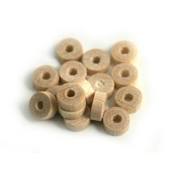 Cuenta DQ 5x2mm wooden bead blank disc